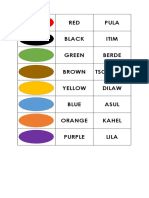 Filipino-English Color Translation