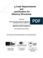The Masonry Society, American Concrete Institute, Structural Engineering Institute of ASCE-Building Code Requirements and Specification for Masonry Structures-Joint Publication of the Masonry Society