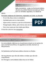 Presenca Muculmana Na Peninsula Iberica
