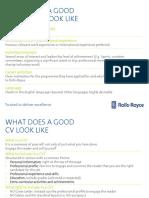 Rolls Royce Good Candidate CV