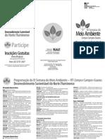 Folder III Semana Meio Ambiente IFF Guarus