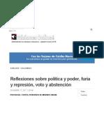 Cortes_Reflexiones Sobre Política y Poder, Furia y Represión, Voto y Abstención