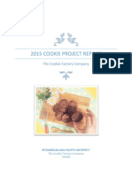 Final 2015 Cookie Project Report the Cookie Factory
