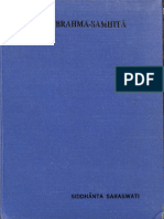 Brahma Samhita (Fifth Chapter) With Commentary 1932 - Shree Gaudiya Math Madras