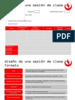 Diseño de Una Sesión de Clase - Formato (1)