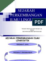 Sejarah an Ilmu Linguistik