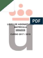 Libro Asignaturas Grado 2017 2018