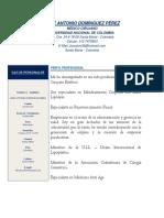 Hoja de Vida Dr. José Antonio Domínguez