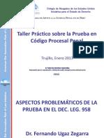 Aspectos Problemáticos de La Prueba en El Dec. Leg.958