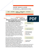 Varmus y Satcher Ethical Complexities of Conducting Research in Developing Countries