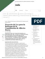 Proyecto de Ley Para La Reforma de La Constitución de Alberto Borea _ OtraMirada