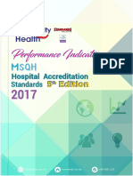 Performance Indicators MSQH Hospital Accreditation Standards 5th Edition