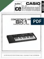Casio SK-1 / Realistic Concertmate-500 - Service Manual