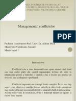 Managementul conflictelor- teoretic