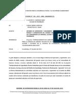 Informe de Clenin de Huambalpa