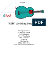 NEW Wedding Songbook