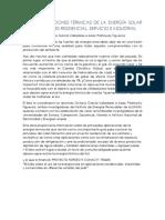 Aplicaciones Termicas de La Energia Solar en Los Sectores Residencial Servicios e Industrial
