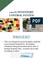 Drug Inventory Control System
