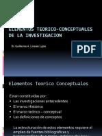 Clase 04 Elementos Teorico-conceotuales de La Investigacion