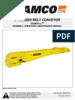 Tramroll Enclosed Belt Conveyor Assembly Operation Maintenance - 900203 r0