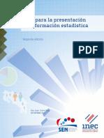 Guía para la presentación información estadística. Segunda edición