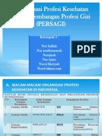 Organisasi Profesi Kesehatan Dan Perkembangan Profesi Gizi