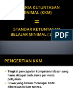 Kriteria Ketuntasan Minimal (Kkm)