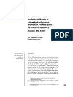 Methods and Trends of Biomedical and Genomic Information Retrieval Based on Semantic Relations of Thesauri and MeSH