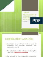Linear Regression Correlation Analysis