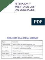Sesión 9 Obtencion y Tratamiento de Las Drogas Vegetales