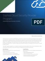 Sophos Cloud Security Provider Brochure