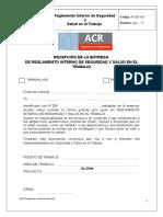 Cargo de entrega de Reglamento Interno.doc