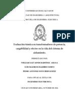 Evaluación Térmica en Transformadores de Potencia Cargabilidad y Efectos en La Vida Del Sistema de Aislamiento