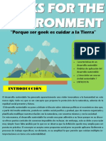 GEEKS FOR THE ENVIRONMENT (Boletín informativo)