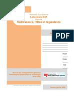 Lab4A- Redresseurs, Filtres Et Regulateurs