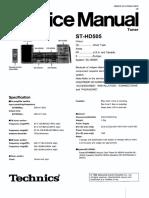 Technics ST-HD505 Tuner Service Manual
