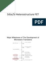 Microwave Transistors _ SiGe FETs