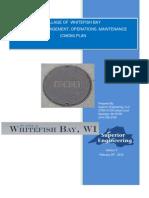 2010 Whitefish Bay CMOM Plan