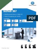 Impresora Multifuncional Bizhub 367