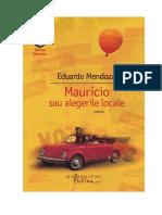 Eduardo Mendoza - Mauricio Sau Alegerile Locale v 0.9