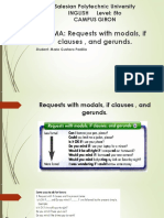 Requests With Modals if Clauses and Gerunds.