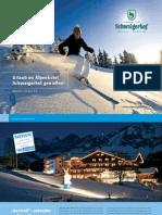 Winterprospekt Hotel Schwaigerhof in Österreich, Skiurlaub in Schladming Rohrmoos mitten in Ski amadé