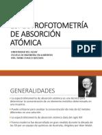 Espectrofotometría de Absorción Atómica