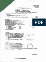 Examen parcial y Solucionario, física 1 2013-1