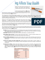 How Smoking Affects Our Health Reading Comprehensi Reading Comprehension Exercises 80448
