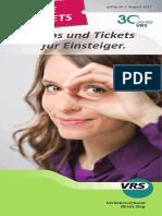 2017 Die Tickets (Flyer) NEU Ab Aug
