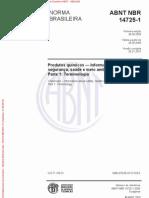 ABNT NBR 14725-1 2009 Versão Corrigida 2010