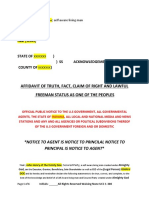 Affidavit of Truth Template #1   #TeamTyler