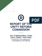 DNC Unity Reform Commission Report