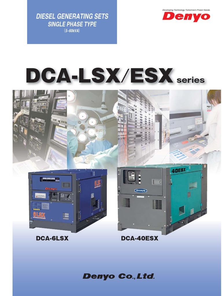 Denyo Dca Esx | Diesel Engine | Engines
